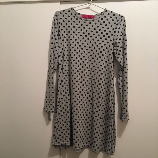 Boohoo Fashion Spotted Dress, Size 8
