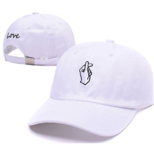 BRAND NEW** Finger Heart Hat *White