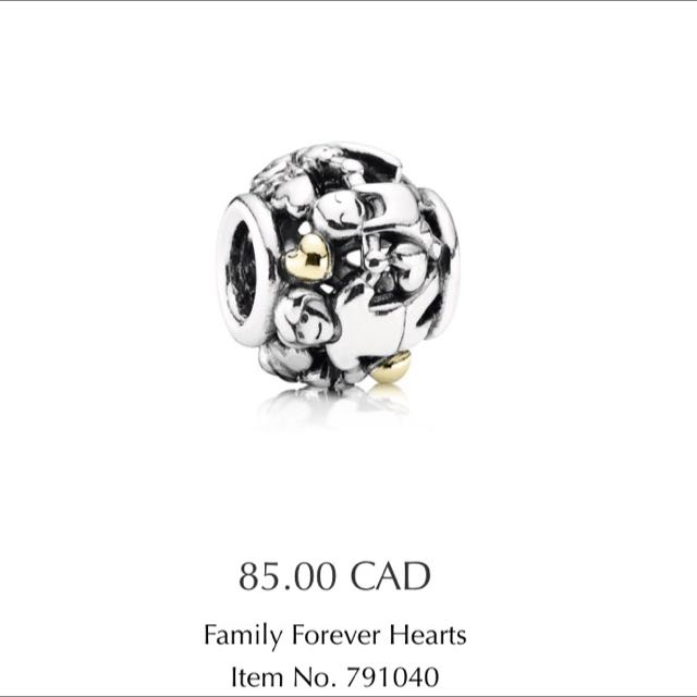 Brand New Pandora Family Charm 14k Gold