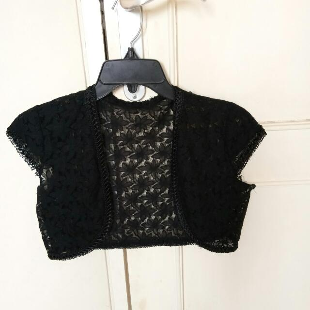 Cardigan Black Renda