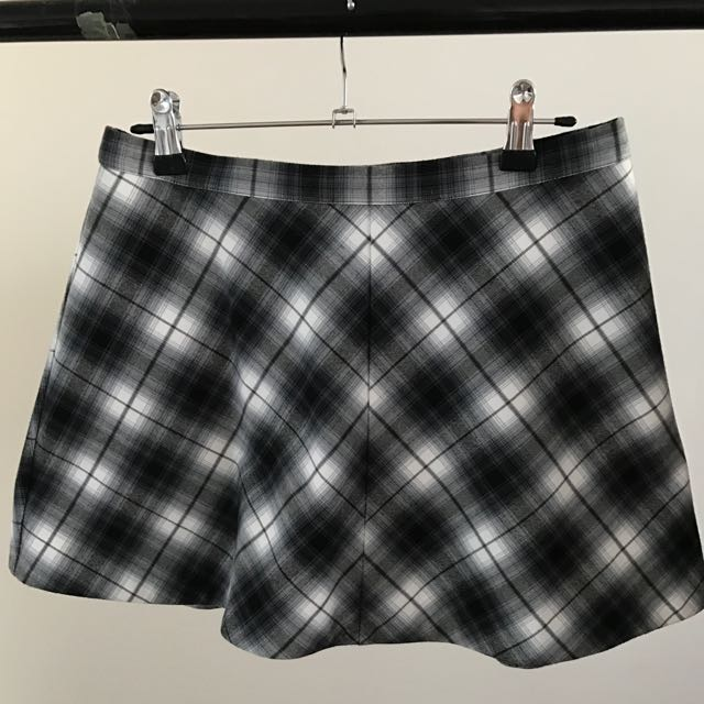 Checked Skater Skirt