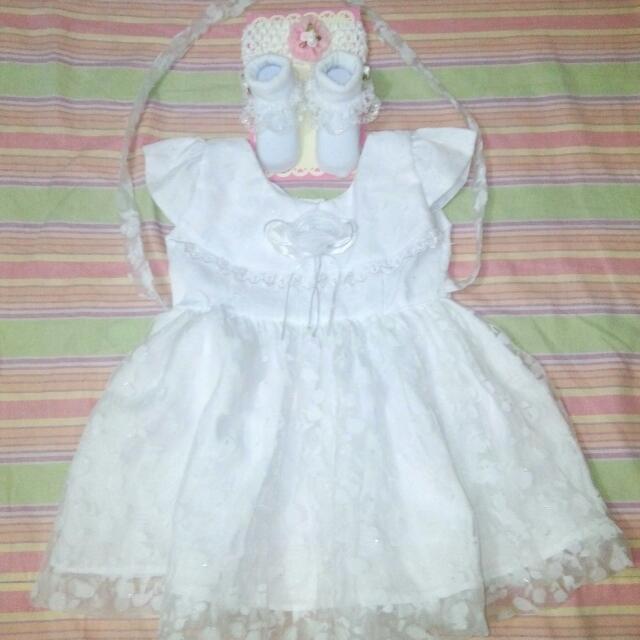 Christening Gown, Socks, Belo