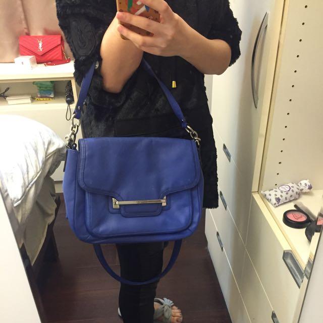 Coach土耳其藍包包