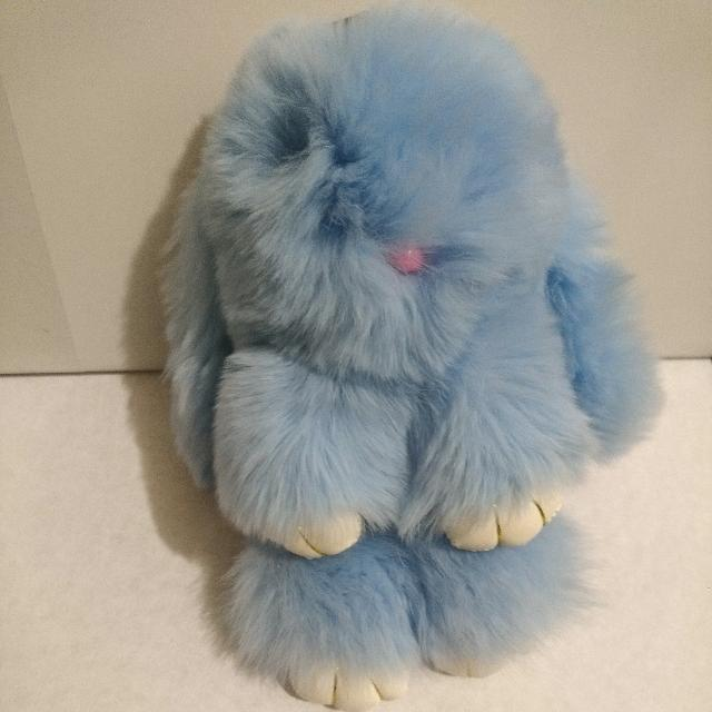 Colorful Real Fur Kopenhaagen Bunny Rabbit Keyring Accessory