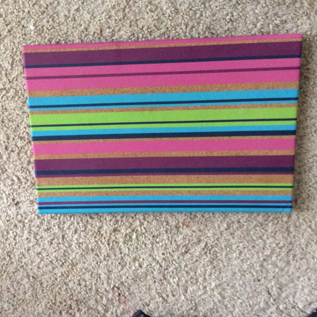 Cute Striped Corkboard