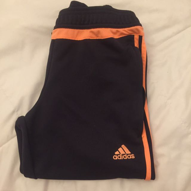 Dark Grey &Pink Adidas Pants