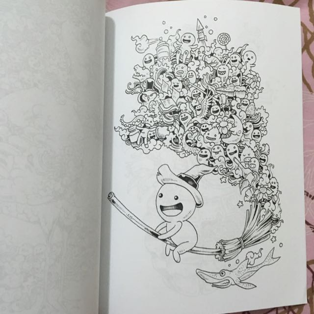 Doodle Invasion Coloring Book Books Stationery On Carousell