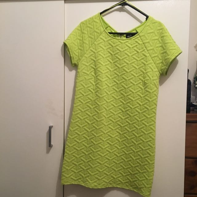 Dotti Lime Green Dress, Size 8