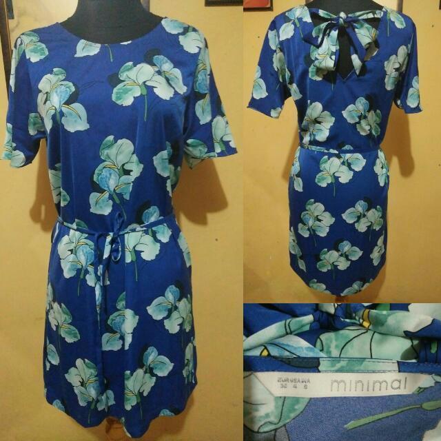 Dress Floral Print Minimal