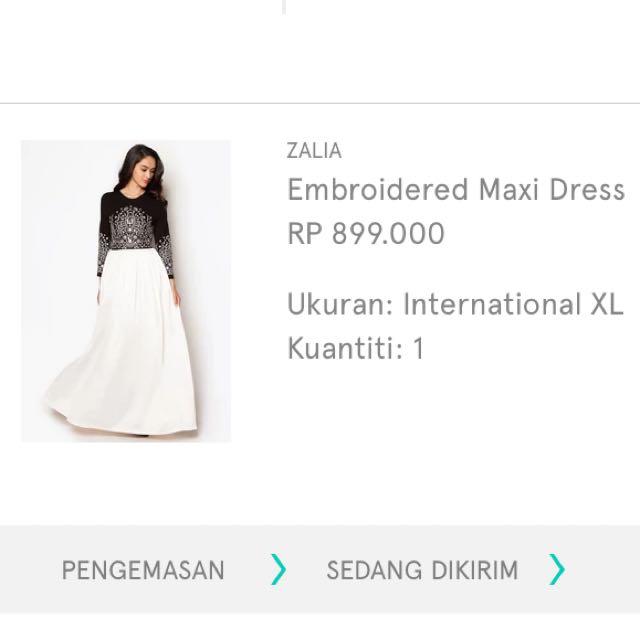 Embroidered maxi Dress Original From Zalia