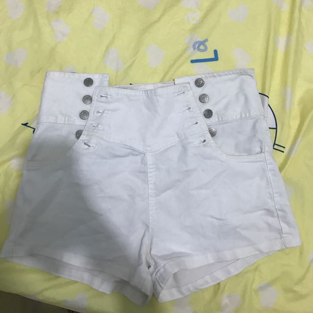 FACTORIE WHITE BUTTON UP SHORTS