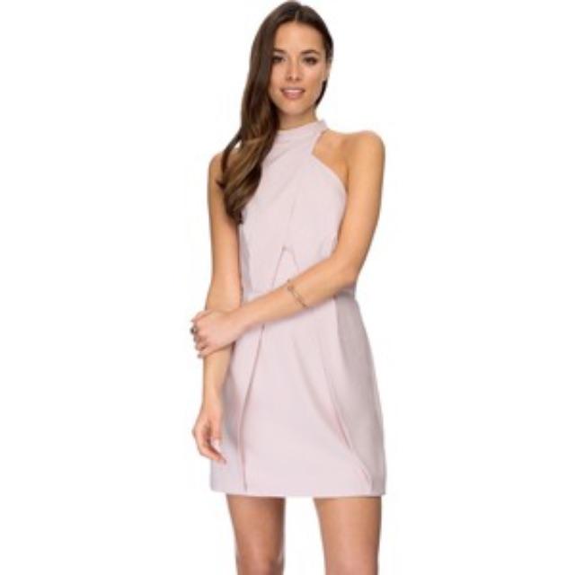 Finders Keepers Slow Goodbye Dress in Pink/Beige