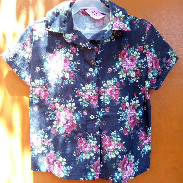 Floral Polo Crop Top