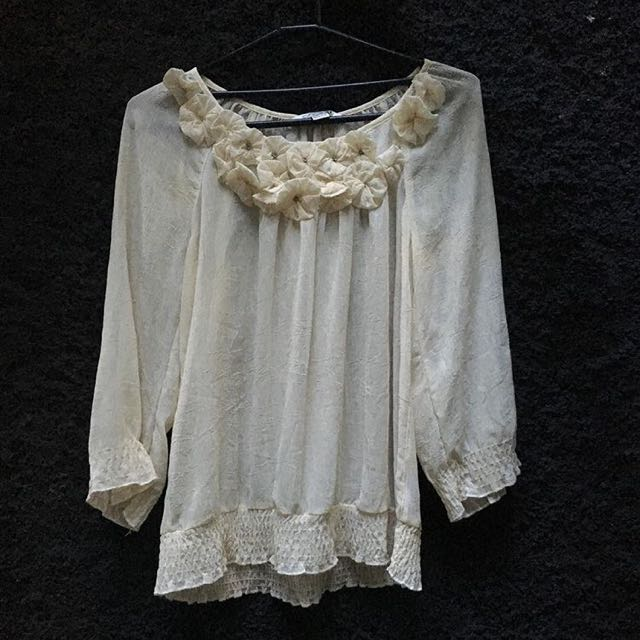 Forever 21 See-through Blouse