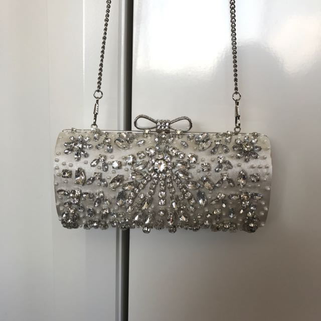 Forever New Crystal Clutch Evening Bag