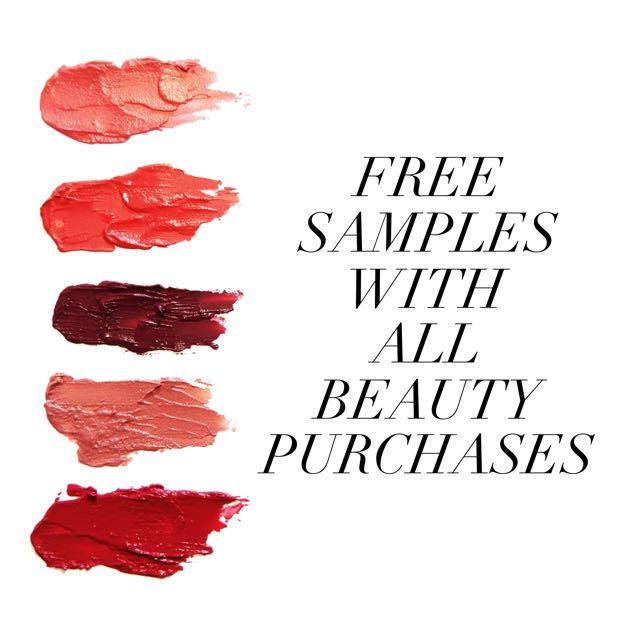 Free Samples With All Beauty Buys