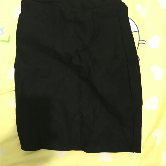 FREESIZE BLACK PENCIL SKIRT