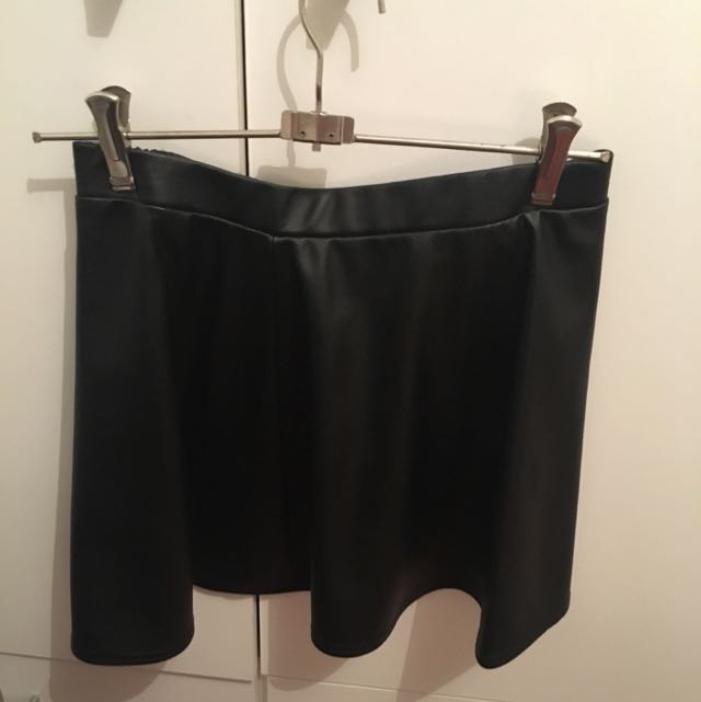 Ghanda Faux Leather Skirt