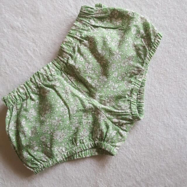 Gingersnaps Green Floral Baby Short