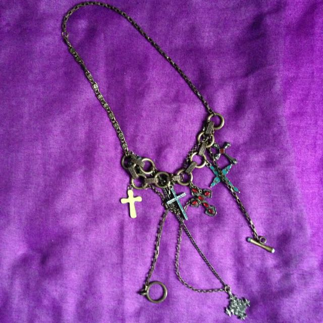 Goth Necklace With Cross Design