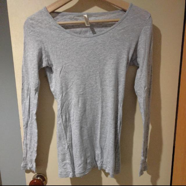 Grey Basic Long Sleeve Shirt