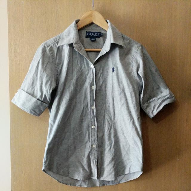 Grey Ralph Lauren Short Sleeve Shirt