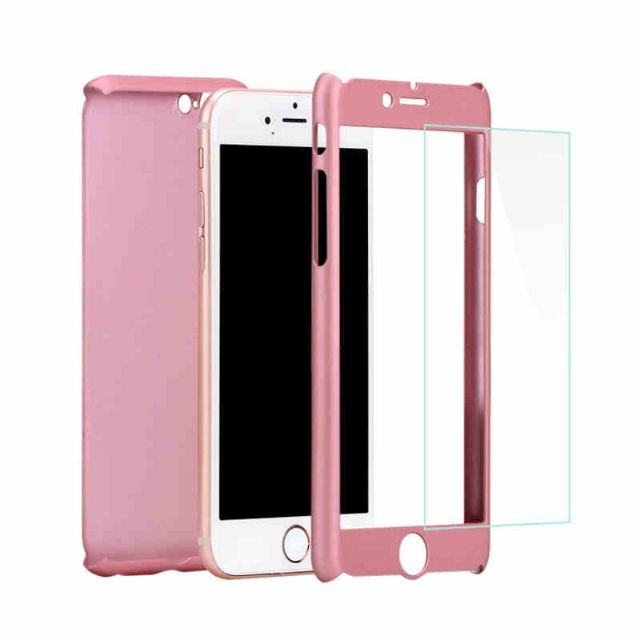 Hardcase Case 360 Iphone 6/6s Neo Hybrid Free Tempered Glass