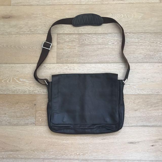 Hidesign brown leather satchel