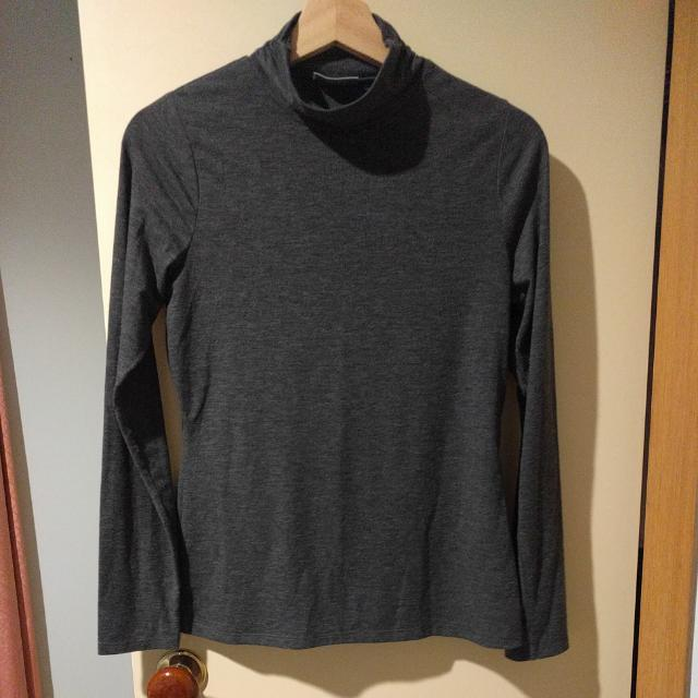 High Neck Grey Long Sleeve