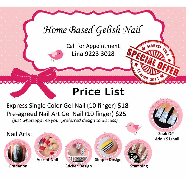 Home Based Gelish Nail At Yew Tee Lifestyle Services Beauty