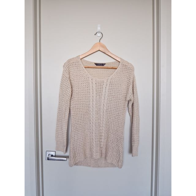 Knitted Cream Jumper Size 6