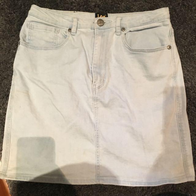 Lee Brand Denim Skirt