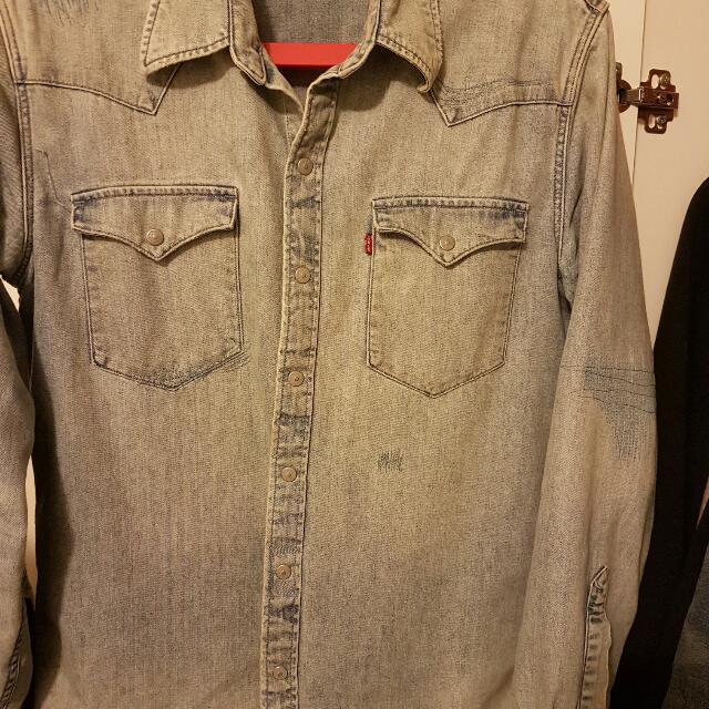 levis 牛仔襯衫 淺色