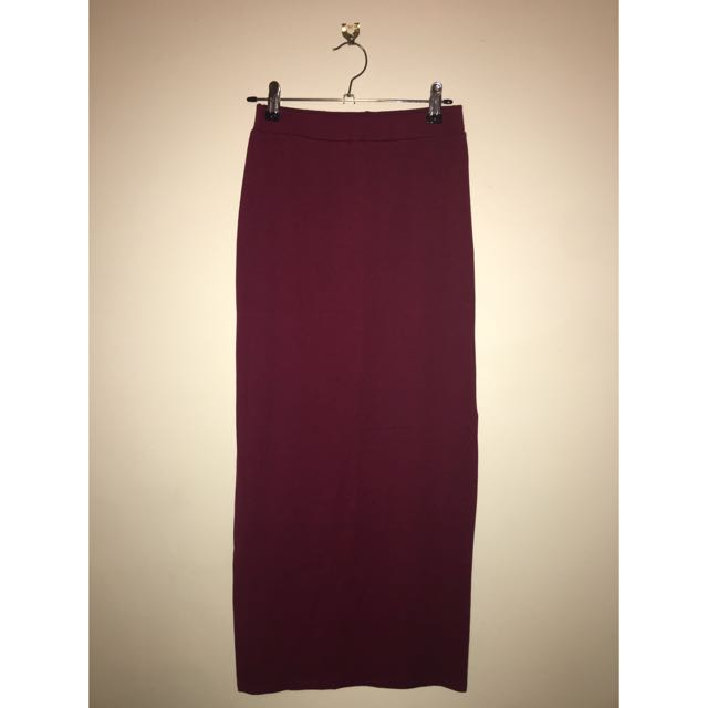 Maroon Long Skirt