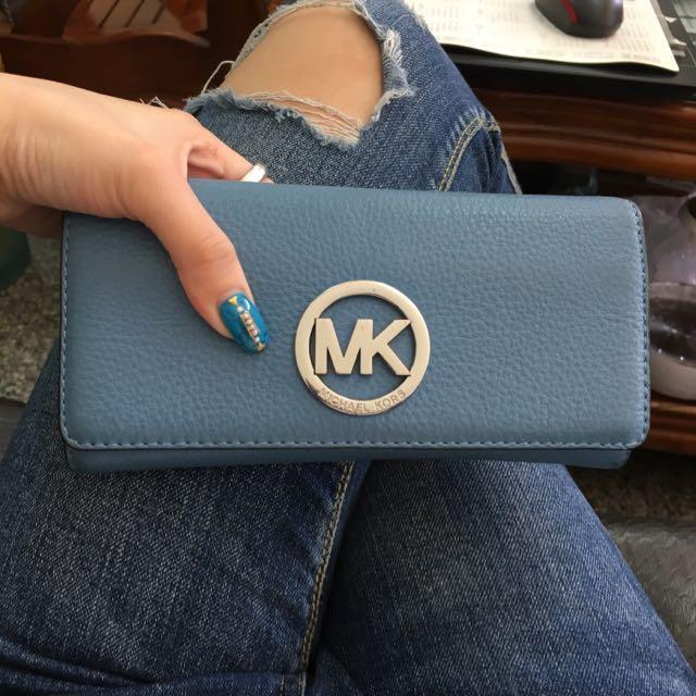 MK牛皮長夾