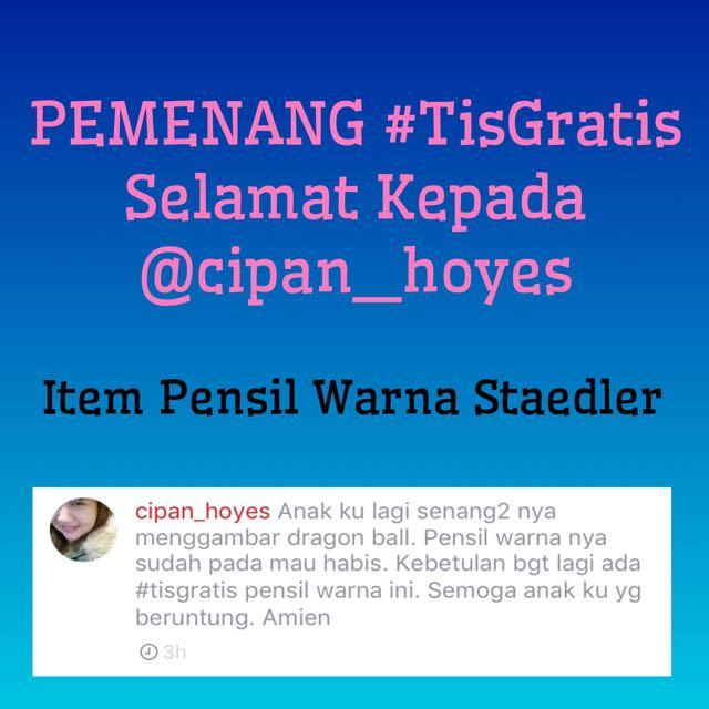 Pemenang Event #TisGratis