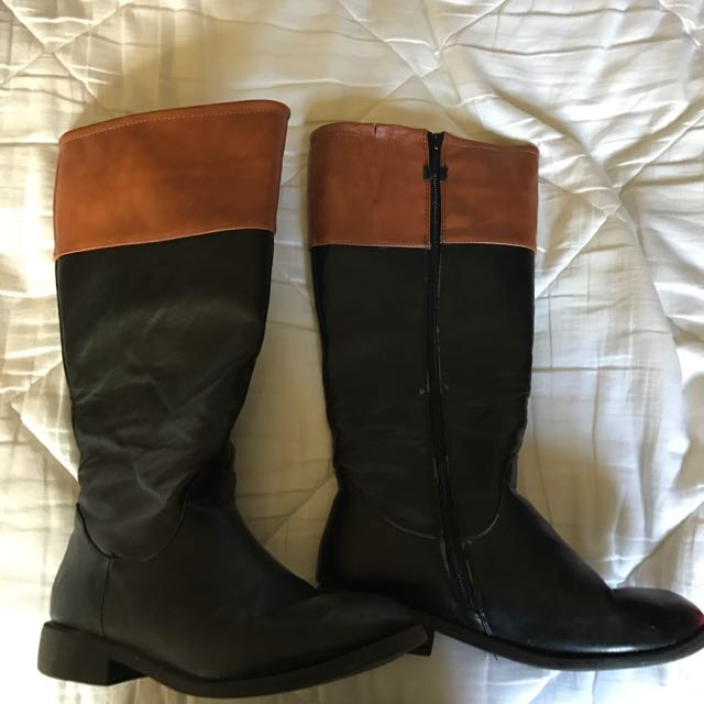Pleather Riding Boots Size 6 1/2