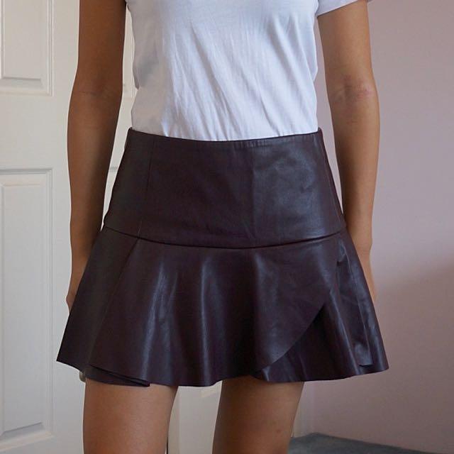 Pleather Skirt Forever 21 XS