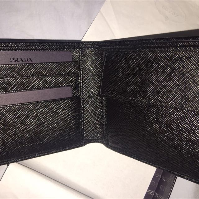 60a99e8d745e Prada Saffiano Leather Billfold Wallet, Luxury, Bags & Wallets on Carousell