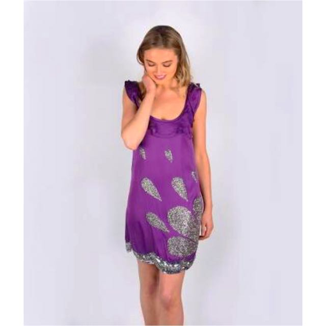 Rachel Gilbert Purple Sabrina dress