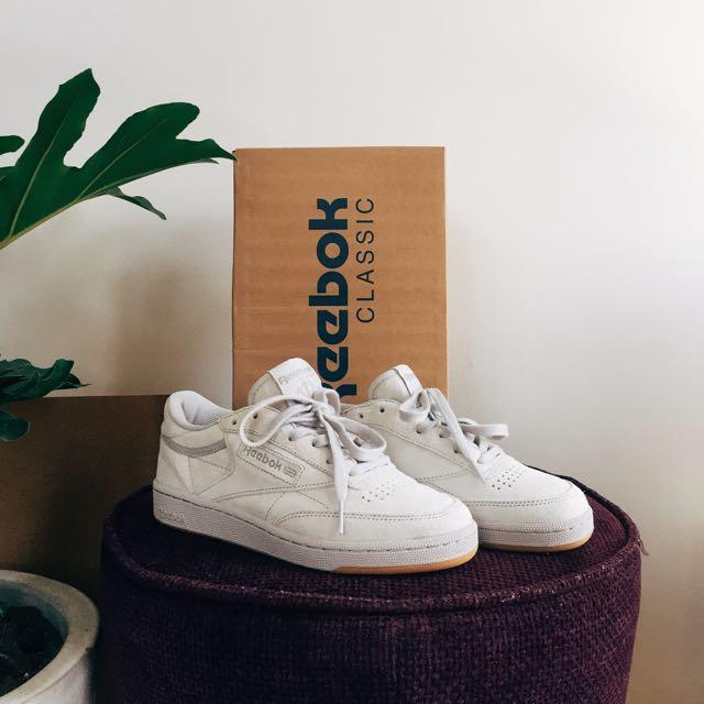 Reebok Club C 85 Steel/Gum TG Sneakers (Kendrick Lamar)