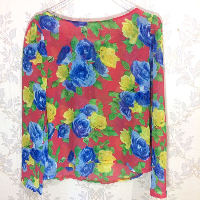 (REPRICE) Blouse Flower