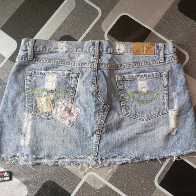 Ripped Mini Skirt