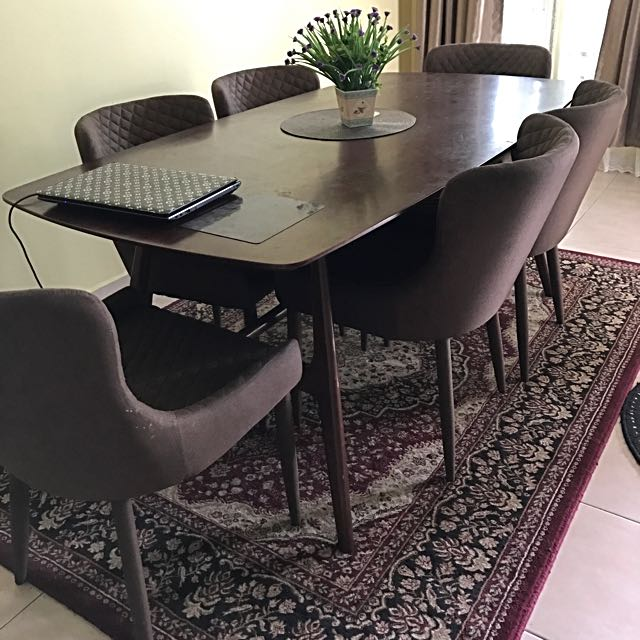 Set meja makan 6 kerusi from ssf home furniture for Ssf home designs