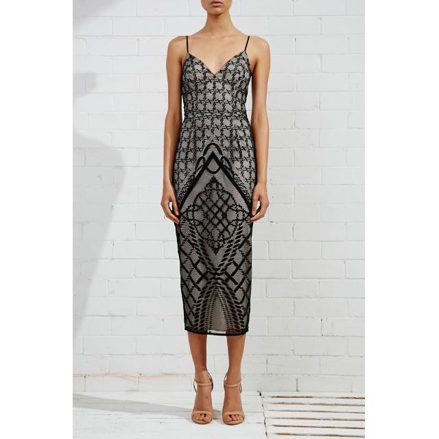 Shona Joy Maddalena Midi Dress