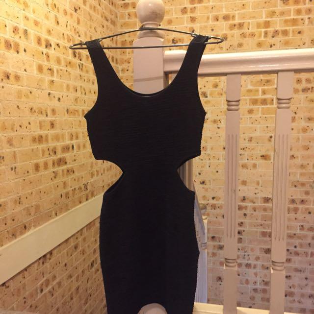 Size 8 Black Mink Dress!