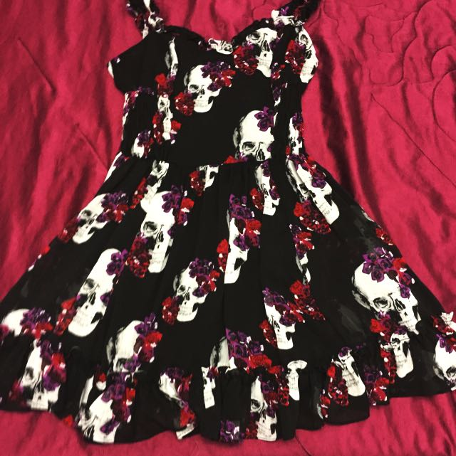 Skull And Rose Dress