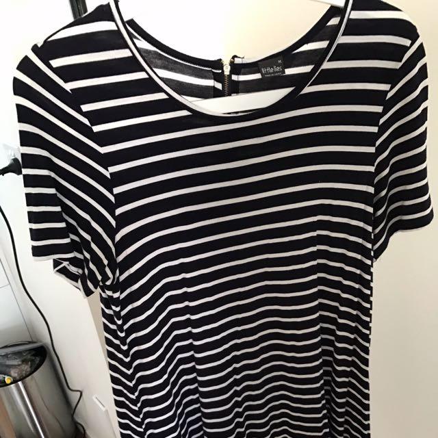 Striped Blue/white Dress