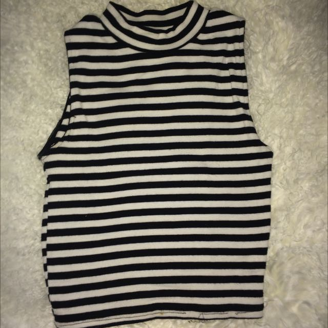 Supre - high neck striped sleeveless top