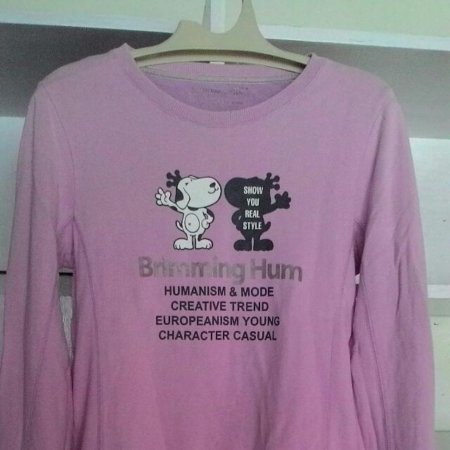 Sweater Brimming Hum Pink